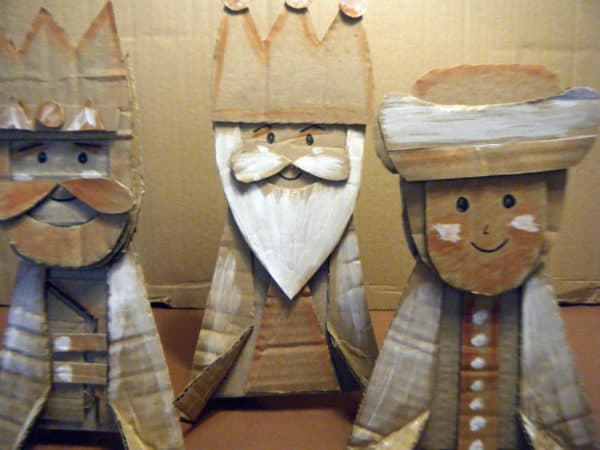 The three kings  in diy  with Cardboard