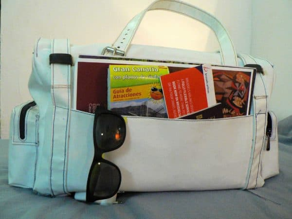 Red Claw, Travel Bag with Upcycled Materials Accessories