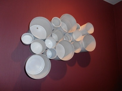 White cans shelves