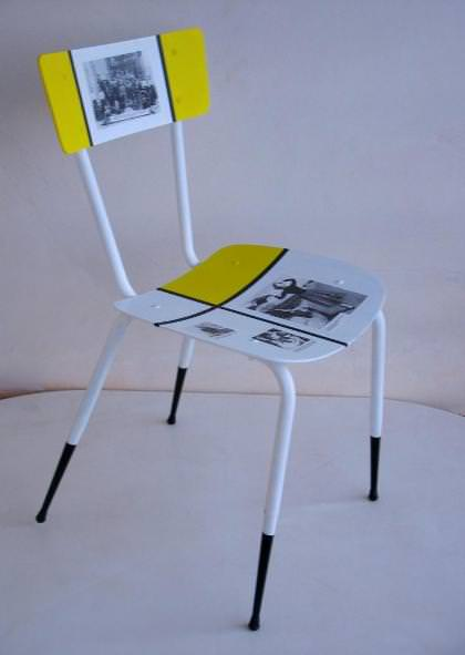 "Recycled chair ""Sofia Loren"""