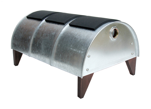 Barrel bench in furniture metals  with Bench Barrel