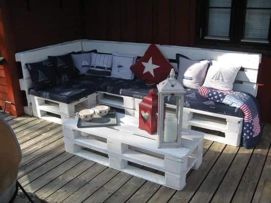 Make an outdoor pallet sofa in pallets 2 diy  with Pallets Garden Furniture