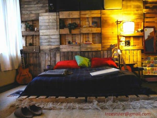 pallet wall 600x450 Pallet wall in pallets 2 diy architecture  with wall Pallets