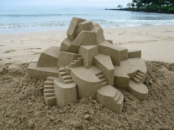 Geometric Sand Castles By Calvin Seibert Recycled Art