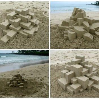 Geometric Sand Castles By Calvin Seibert