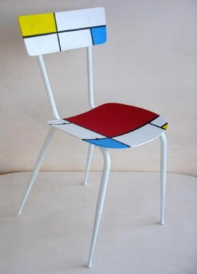 Recycled chair &#8220;Mondrian&#8221;