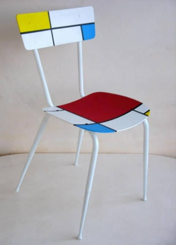 Recycled chair Mondrian in furniture  with Upcycled Recycled Polish mondrian maria fiter Furniture Ecodesign design Art