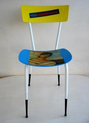 Recycled chair &#8220;Ragazza&#8221;