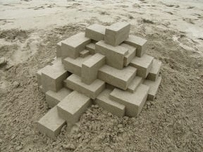 Geometric sandcastles by Calvin Seibert
