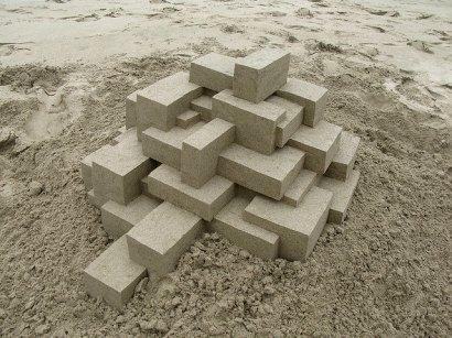 Geometric sandcastles by Calvin Seibert