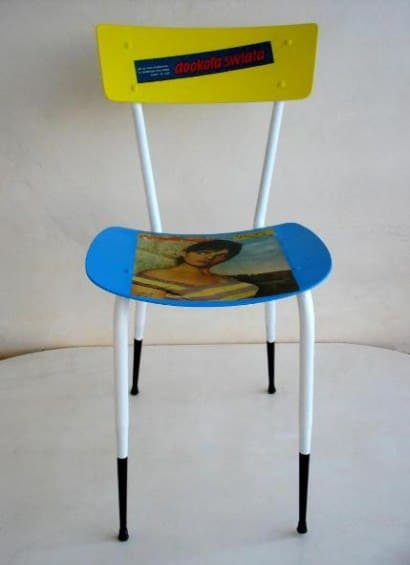 "Recycled chair ""Ragazza"""