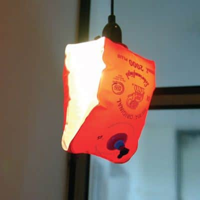 Water wing Lampshade