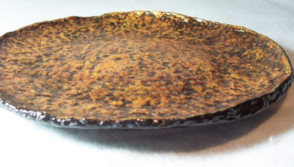 Molten Gold Recycled Paper Pottery Plate Do-It-Yourself Ideas Recycling Paper & Books