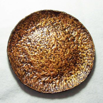 Molten Gold Recycled Paper Pottery Plate