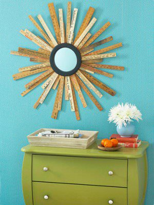 DIY: Yardstick mirror