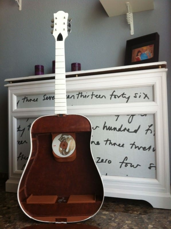 Creative Cd Guitar shelf in furniture diy  with upcycled furniture Music guitar
