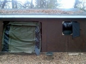 Military tent door &#038; TV tube / glass front window