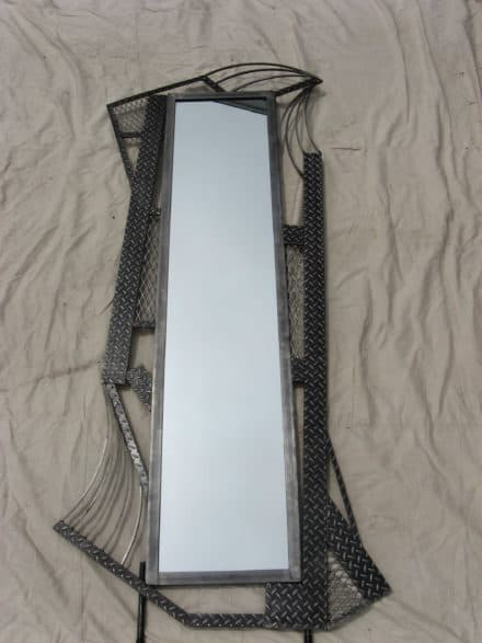 Tall Floor Mirror made from Recycyled Steel