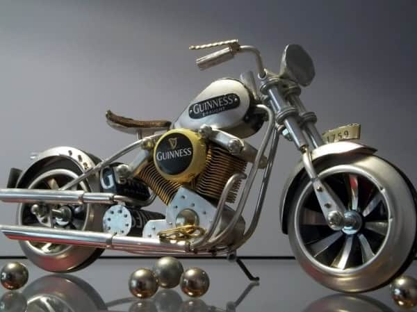1759 Knucklehead in metals art  with Cans Aluminium