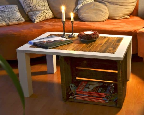 Wooden crates coffee table  in wood pallets 2 furniture  with Wood Furniture DIY Crates Coffee Table