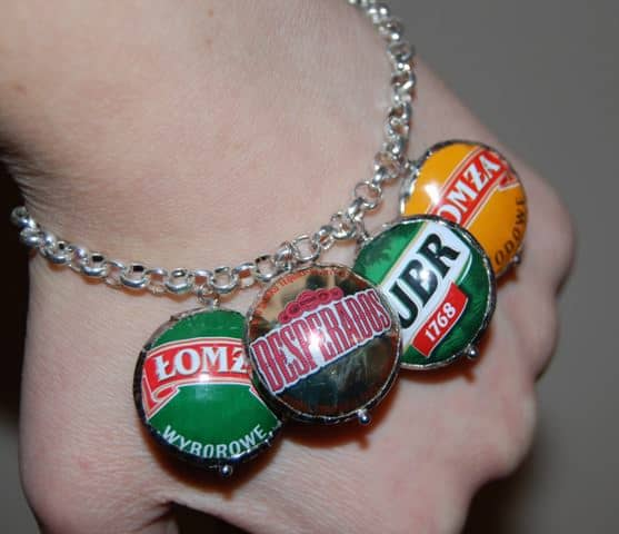 Recycled Bottle Caps Jewelry Accessories Do-It-Yourself Ideas Upcycled Jewelry Ideas