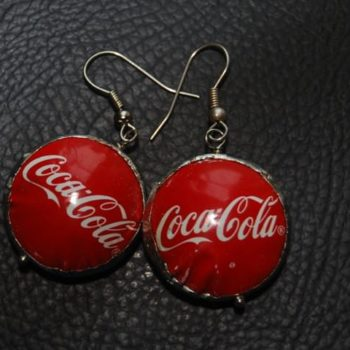 Recycled bottle caps jewelry