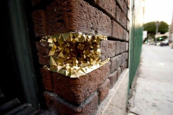 Street Art Geode Interactive, Happening & Street Art Recycled Art