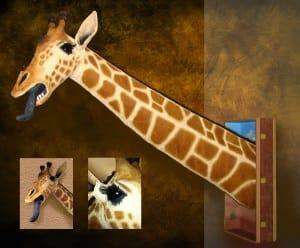Recycled/Repurposed Giraffe Sculpture