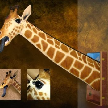 Recycled/Repurposed Giraffe Sculpture