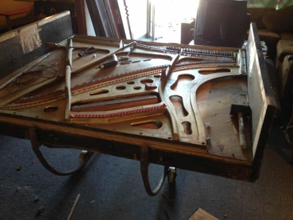 Recycled old piano parts iLap Guitar Recycled Art