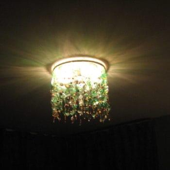 My green bottles chandelier
