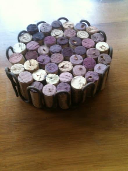 Wine corks trivet