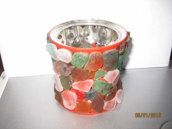 DIY: Candle Holder With Sea Glass Do-It-Yourself Ideas Recycled Glass