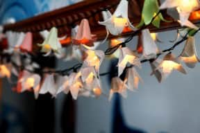 100 lights made from egg cartons – Winner of our winter contest