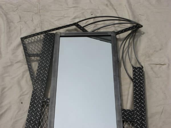 Tall Floor Mirror Made from Recycyled Steel Recycled Furniture Recycling Metal