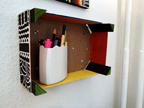 Clementine Box Shelves in furniture diy  with Wood Recycled Painting KPdesign fruit DIY Box Art