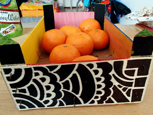 Upcycled Clementine Crate Into Shelf Do-It-Yourself Ideas Recycled Furniture