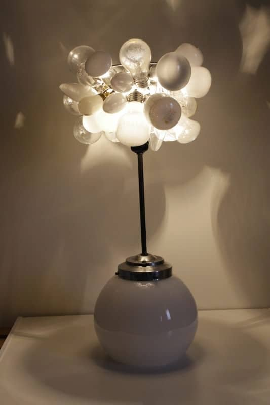 The White lamp in lights glass accessories  with Light Lamp Bulb