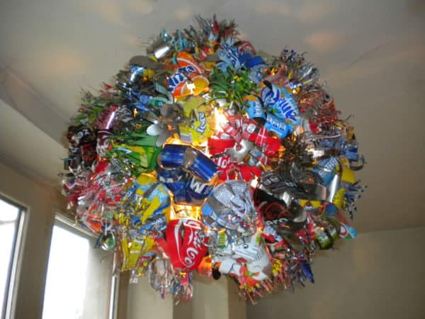 Lustre Bouquet of Cans Do-It-Yourself Ideas