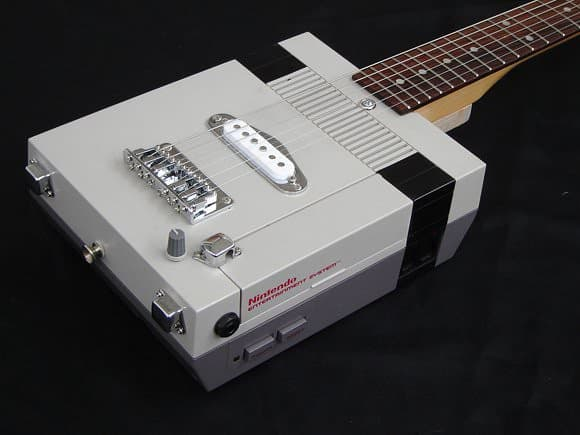 Nintendo NES electric guitar Recycled Electronic Waste