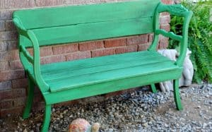 How to convert old chairs into a new bench