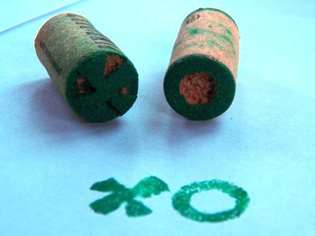 Riy: Cork Stamps Do-It-Yourself Ideas Recycled Cork