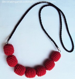 Car cushion beads recycled into a beautiful necklace!