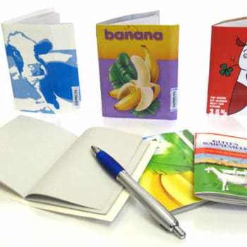 Sustainable sketchbook made from milk and juice cartons