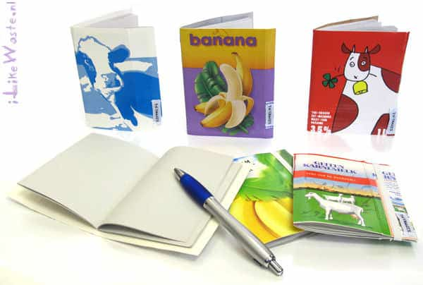 Sustainable Sketchbook Made from Milk and Juice Cartons Recycled Packaging Recycling Paper & Books