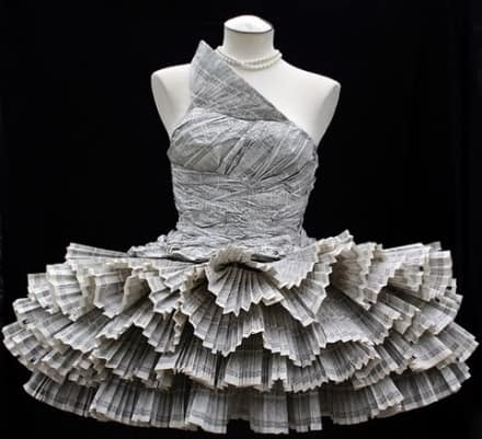 Upcycled Phone Book Dress