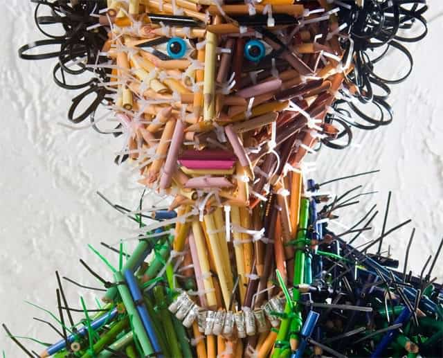 mother pencil sculpture head Pencils sculptures in art  with Sculpture Pencil Art