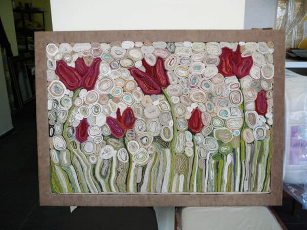 pano 016 600x450 Textile art  in fabric art  with Textile Recycled Art