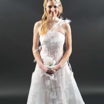 Recycled Milk Bottles Wedding Dress