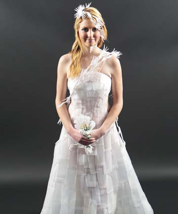 Recycled Milk Bottles Wedding Dress Clothing Recycled Plastic